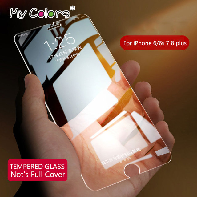 My Colors 0.26mm 2.5D Tempered Glass For iPhone 6 glass 6s 7 8 Plus iphone 7 glass HD iPhone 7 Screen Protector Film 9H Hardness