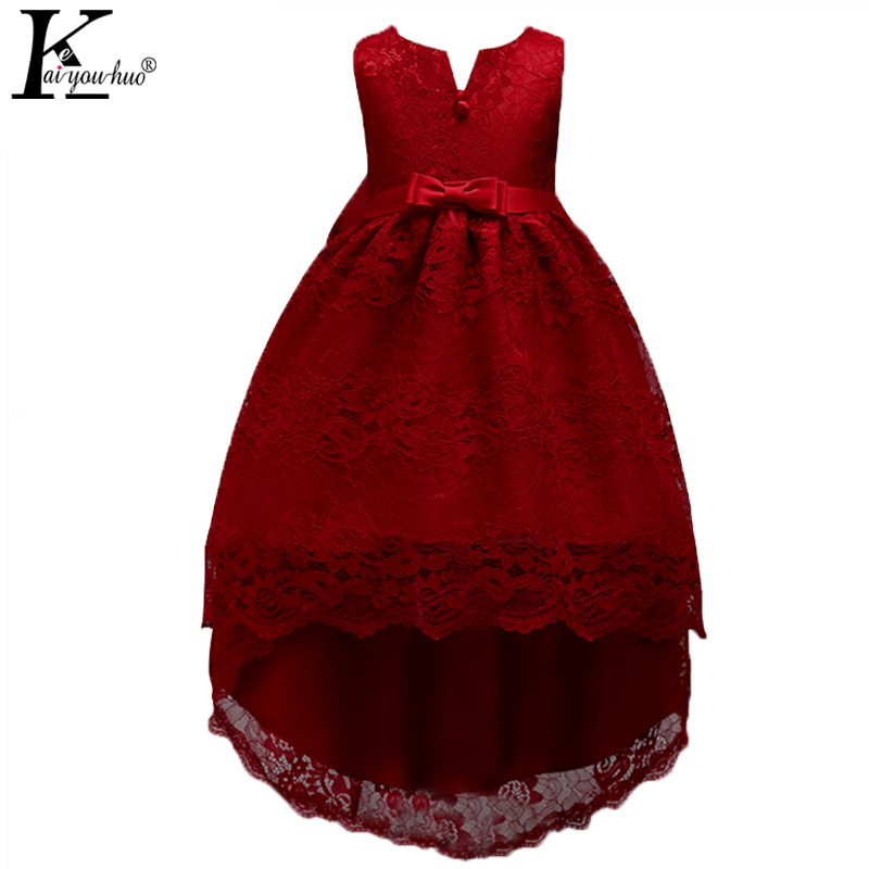 KEAIYOUHUO New Kids Dresses For Girls Clothes Chiffon Wedding Dress For 4 5 6 7 8 9 10 11 12 13 14 Years Children Princess Dress summer 2017 new girl dress baby princess dresses flower girls dresses for party and wedding kids children clothing 4 6 8 10 year