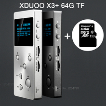 XDUOO X3 (+ 64 ГБ Карты) Профессиональный Lossless музыка MP3 HIFI Музыкальный Плеер с HD OLED Экрана Поддержки APE/FLAC/ALAC/WAV/WMA/OGG/MP