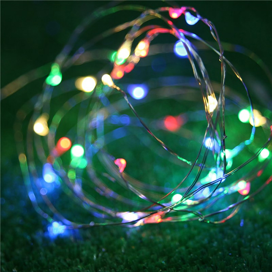 Hi-Lumix 5PCS 30 LED 3M Copper Wire String Fairy lights 3pcs AA Battery rope for Christmas Holiday Wedding Party Decoration