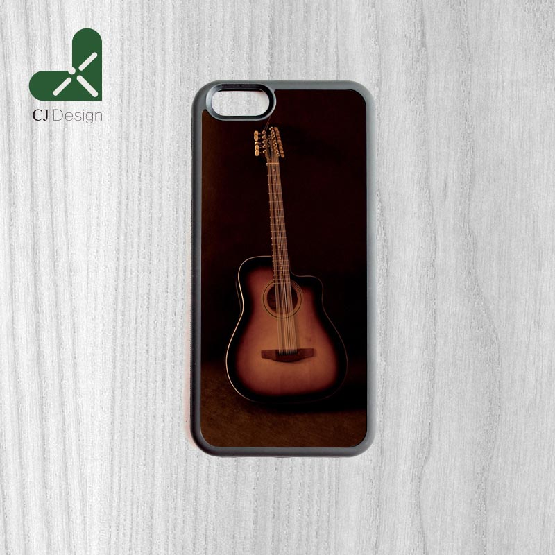 customized design acoustic guitar wallpaper mobile phone back cases for iphone 6 6s and 4 4s 5. Black Bedroom Furniture Sets. Home Design Ideas