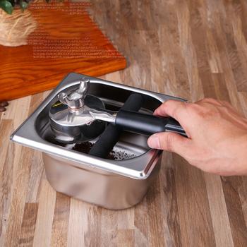 Praktyczny przenośny pojemnik na kawę do użytku domowego o dużej pojemności narzędzie kuchenne srebrna taca na pojemnik dwa rozmiary trwała stal nierdzewna tanie i dobre opinie Metal Dwuczęściowy zestaw