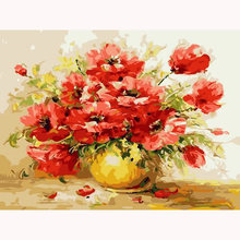 Yikee Алмазная мозаика цветы круглая вышивка распродажа Настенный