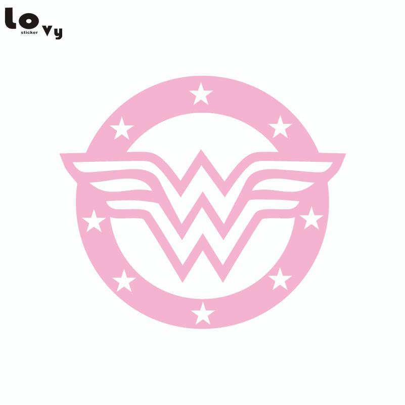 80s Super Hero Wonder Woman Wall Sticker Cartoon Vinyl Wall Decal
