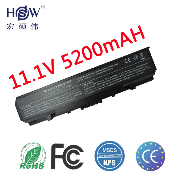 HSW Laptop <font><b>Battery</b></font> For <font><b>Dell</b></font> <font><b>Inspiron</b></font> <font><b>1720</b></font> 1520 1521 1721 Vostro 1500 1700 GK479 FP282 451-10477 UW280 0UW280 NR239 FK890 <font><b>battery</b></font> image