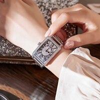 GUOU Top Luxury Women's Watches Luxury Women Wrist Watch Fashion Silver Steel Bracelet Ladies Watch relogio feminino reloj mujer