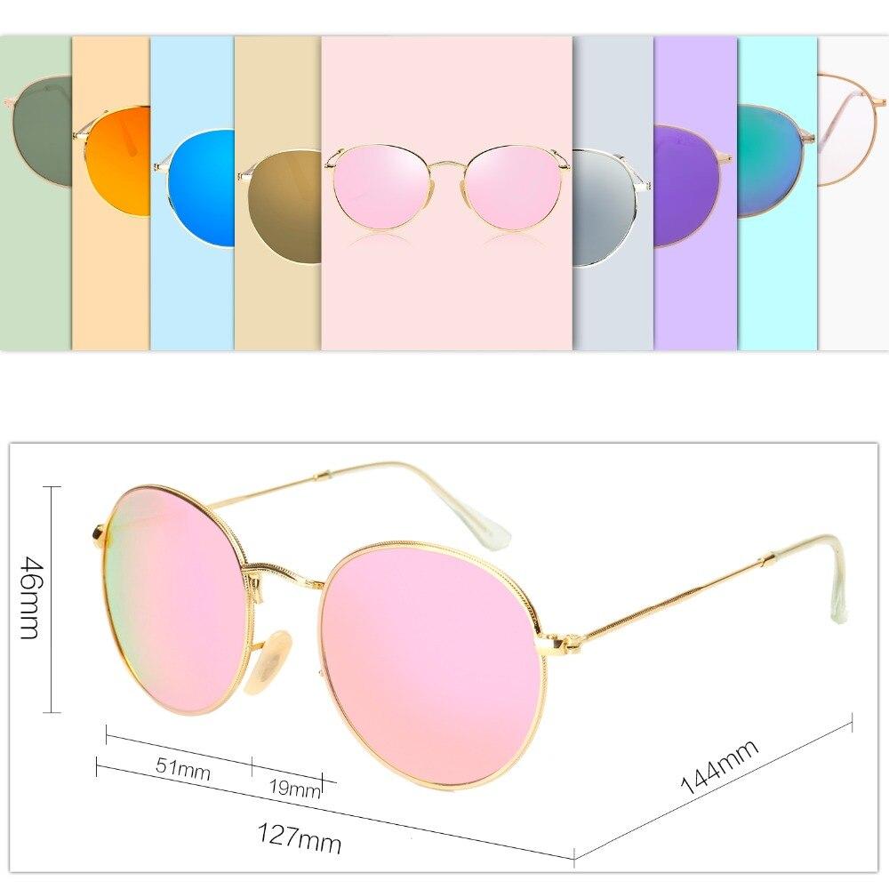 SOJOS Retro klassische metall sonnenbrille runde stil matte gold ...