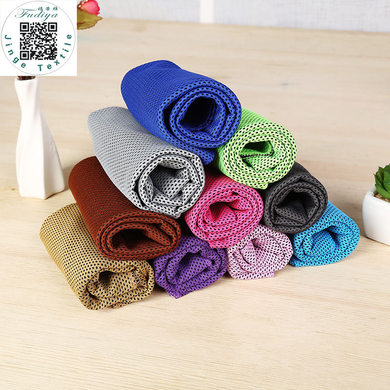 6PCS/LOT Hot 9 Colors New Double layers Ice Towel Utility Enduring Instant Cooling Towel Heat Relief Reusable Chill Cool Towel