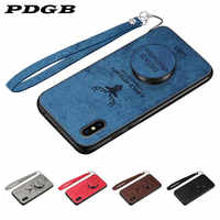 PDGB Rugged TPU Case for Xiaomi Mi 5 6 8 9 A1 A2 Lite 5X 6X Max 1 2 3 Mix 2s Note 3 Redmi 6A 6 Pro 7 Cloth Cover Elk Deer Shell