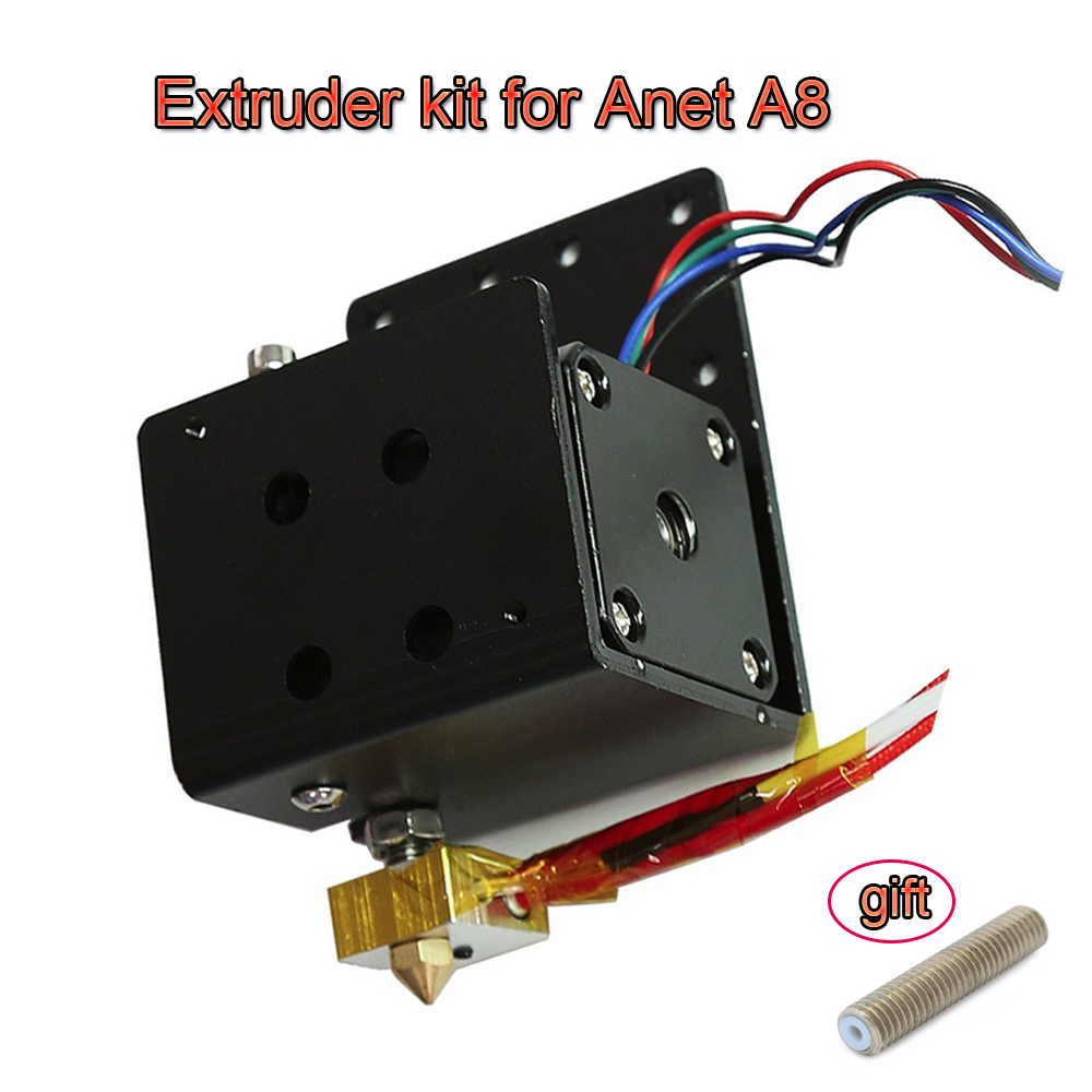 3D Printer Part of Head MK8 Extruder Motor Kit J-head Hot End Nozzle Feed Inlet Diameter 1.75 Filament Extra Nozzle For Anet A8