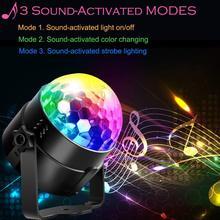дешево!  Звук активировал светодиодные фонари для вечеринки 6 цветов диско-шар свет пульта дистанционного Лучший!