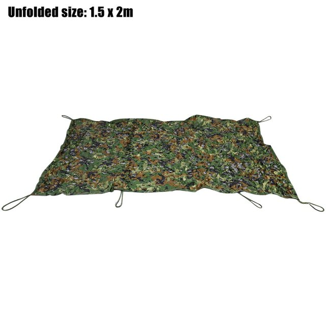 1.5M x 2M Woodland Camouflage Net Military Car Cover Hunting Camping Tent Oxford Utility Camouflage Net Netting Lightweight