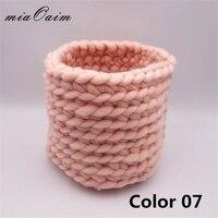 Handmade Honey Pot Finger Crochet Basket Nest Basket Prop Newborn Baby Photography Prop Photo Studio Prop Fotografia Accessories