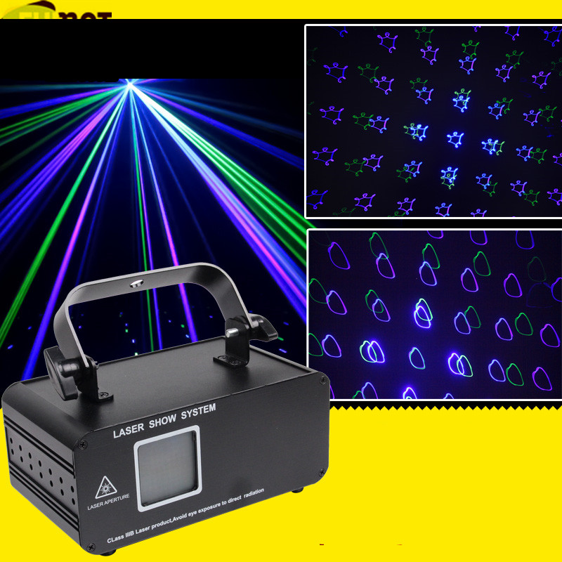 FUMAT 100 Patterns RGB DMX Laser Projector Light Sound Control DJ Disco Party Laser Stage Lighting Effect With Blue Xmas Light 3 lens 36 patterns rg blue led new year christmas party laser projector stage lighting dj disco bar party show stage light