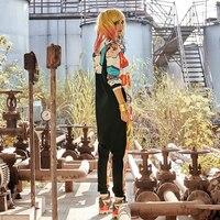 Rompers Womens Jumpsuit Hooded Large Bodysuit For Women Fashion Graffiti Jumpsuits Harajuku Print Hoodies Hip Hop