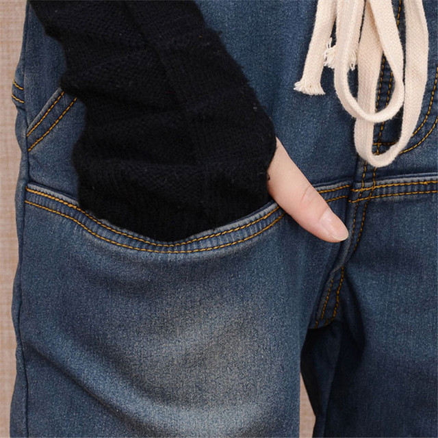 Arrival Winter Warm Jeans Women Thicken Fleece Skinny Harem Pants Trousers Elastic Waist Denim Trousers Plus Size Pants C1504 4