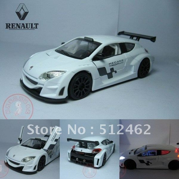 Renault Megane alloy car models in white diecast 1/32 scale model cars kits for sale with free shipping