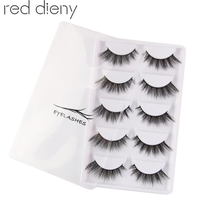 d84a6649e9e 5 pair/set Handmade False Eyelashes Black Cross Fake Eye Lashes Natural  Soft Long Thick