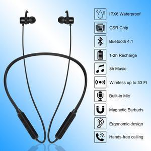 Image 5 - เคส GOOJODOQ หูฟังบลูทูธ 4.1 หูฟังไร้สายสเตอริโอ IPX6 กันน้ำหูฟังชนิดใส่ในหู Bluetooth หูฟังแม่เหล็กหูฟัง