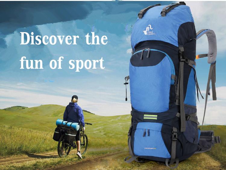 Waterproof 65L Tactical Unisex Mountaineering Backpack