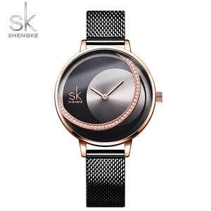 Image 2 - SK אופנה יוקרה מותג נשים קוורץ שעון יצירתי דק גבירותיי שעון יד עבור Montre Femme 2019 נשי שעון relogio feminino