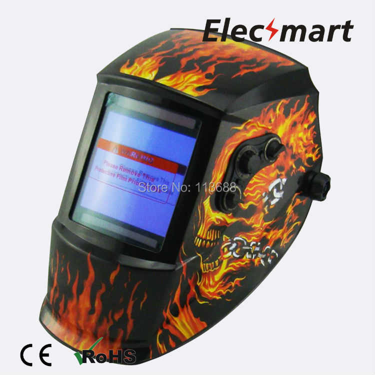 El charro de las calaveras auto darkening welding helmet TIG MIG MMA electric welding mask/helmet/welder cap/lens for welding solar auto darkening welding mask helmet welder cap welding lens eye mask filter lens for welding machine and plasma cuting tool