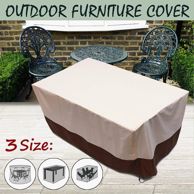 Brand New 3 Shape Heavy Duty Waterproof Chair Dust Rain Cover For