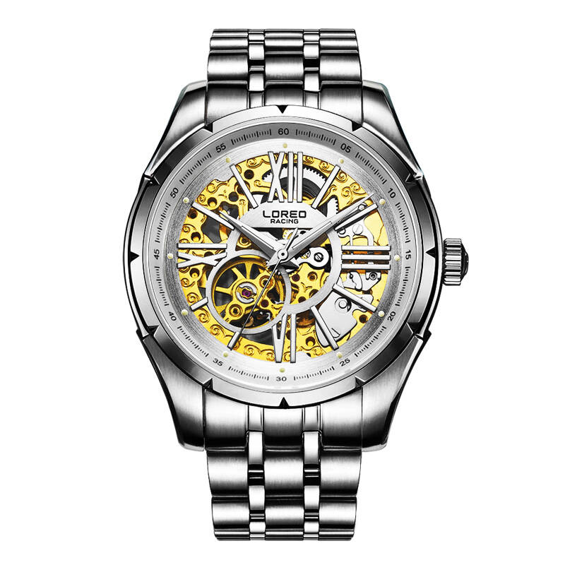 LOREO 8104 Germany watches military racing skeleton automatic Austria Diamond all hollow water resistant 316L stainless steelLOREO 8104 Germany watches military racing skeleton automatic Austria Diamond all hollow water resistant 316L stainless steel