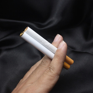 Image 4 - 50 pcs Creative Mini Compact Jet Butane Lighter Metal Cigarette Shaped Inflatable Gas Cigarette No Gas