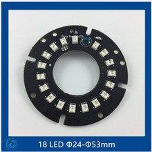 Ик 18 ИК СВЕТОДИОДНЫЕ табло для Камер ВИДЕОНАБЛЮДЕНИЯ ночного видения (размер F24-F53mm) SMT3528 LED(China (Mainland))