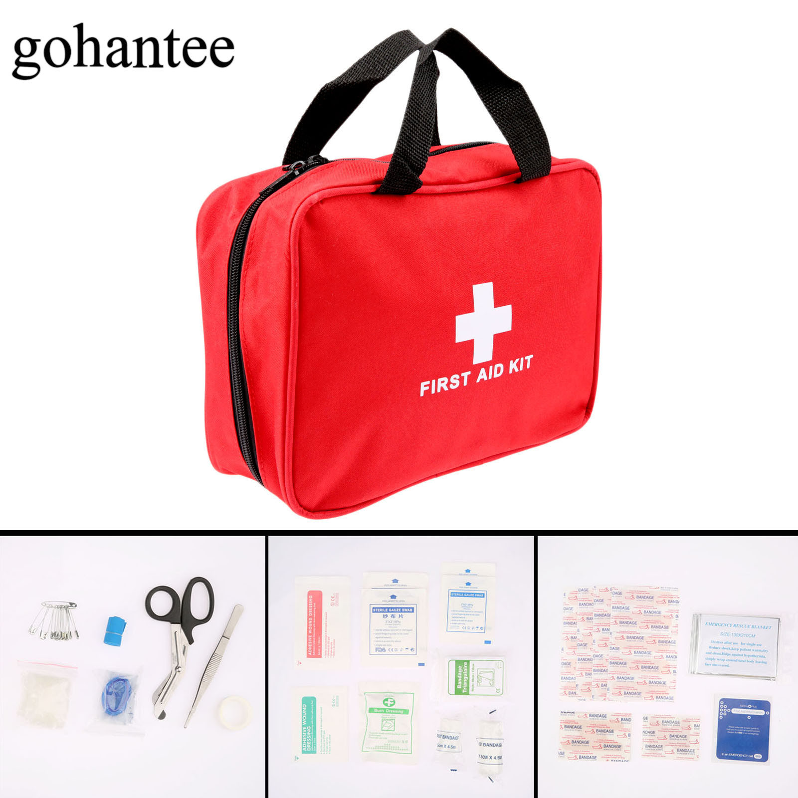 58pcs/Pack (15kinds) Portable First Aid Kit Military First Aid Pouch Outdoor Hiking Travel Home Car Emergency Treatment Pack Bag new fashion waterproof outdoor travel home portable first aid bag carry small medical emergency kit first aid contains 11 kinds