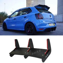 For Polo GTI Rear Lip Spoiler Trim Fins Shark Cover Volkswagen VW 2015 2016 Bumper Protector Car Styling