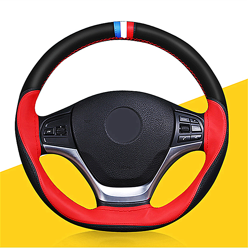 2017 Winter Skidproof Microfiber Leather Braid On Steering Wheel Protect The Steering Wheel Car Covers Suitable For 14-15 Inches