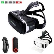 "Original Shinecon VR 2.0 Gafas 3D de Realidad Virtual Google Glass Head Mount VR Auricular vrbox para 4.5-6.0 ""Phone + Bluetooth Remoto"