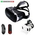 Shinecon originais vr 2.0 óculos 3d de realidade virtual google vidro montar cabeça headset vrbox para 4.7-6' móvel + remoto bluetooth