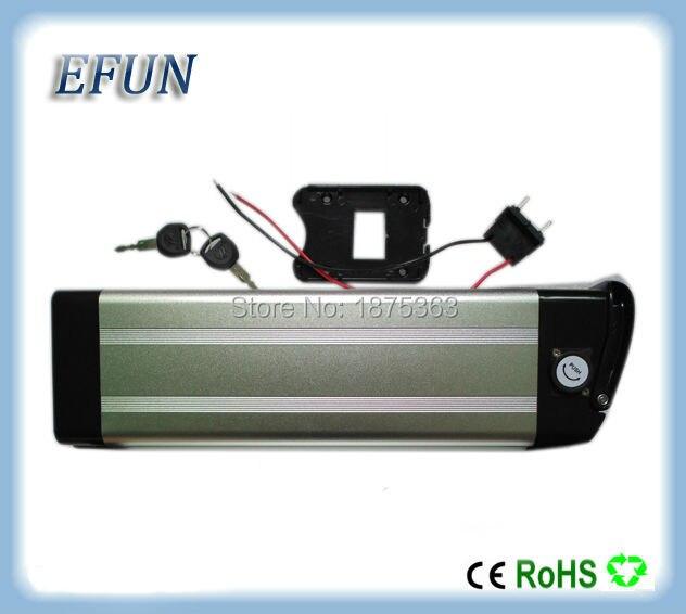 24 v argent poissons li ion batterie 24 v 20ah batterie au lithium pour vélo électrique avec chargeur libre