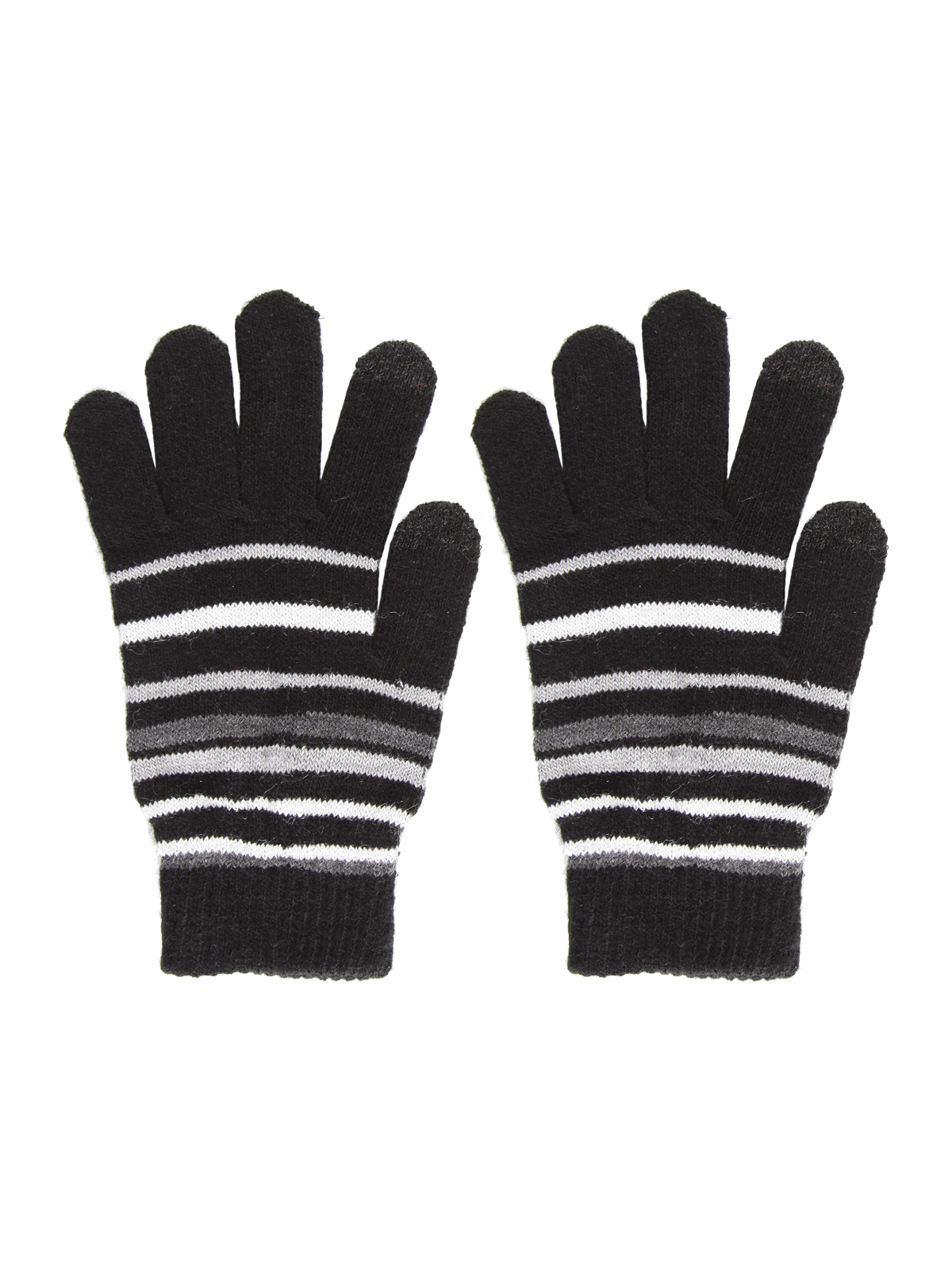 Gloves Striped Touch Screen