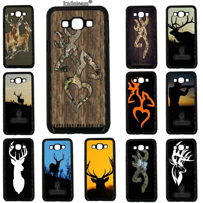 Hard Plastic Cover Browning Hunting Deer Head Phone Case for Samsung Galaxy J1 J2 J3 J5 J7 on5 on7 on8 2016 2017 Prime J530 J730