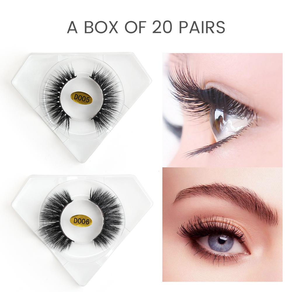 20 pairs/lot Wholesale 3d Mink Lashes Dramatic Volume False Eyelashes Full Strip Mink Lashes 100% Cruelty Free for Lashes Makeup