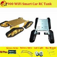 DOIT T900 4WD металлической стене E шасси танка треков Caterpillar шасси 4 с приводом от двигателя DIY робот шасси автомобиля RC игрушка гусеничный цепи ко