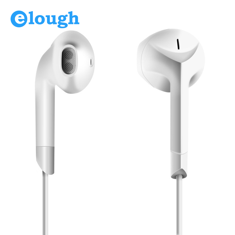 Elough Universal In Ear Earphone For Phone With HD Microphone Noise Canceling Mobile Earpiece Earbuds Airpods For iPhone 5 6 6s cbaooo stereo earphone wired in ear headset ear hook earbuds headphone with microphone noise canceling earphones for phone pc