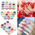 2016 New 12/16 Pcs Mix Colors Glitter Acrylic UV Gel Builder Professional Nail Art Tips Set