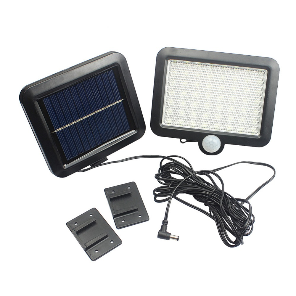 AIMIHUO 56 LED split solar energy light body sensor light control wall lamp outdoor courtyard lamp white light solar street lamp cmi 5w 40lm 3500k 3 led light control pir control warm white solar wall lamp silvery white 12v