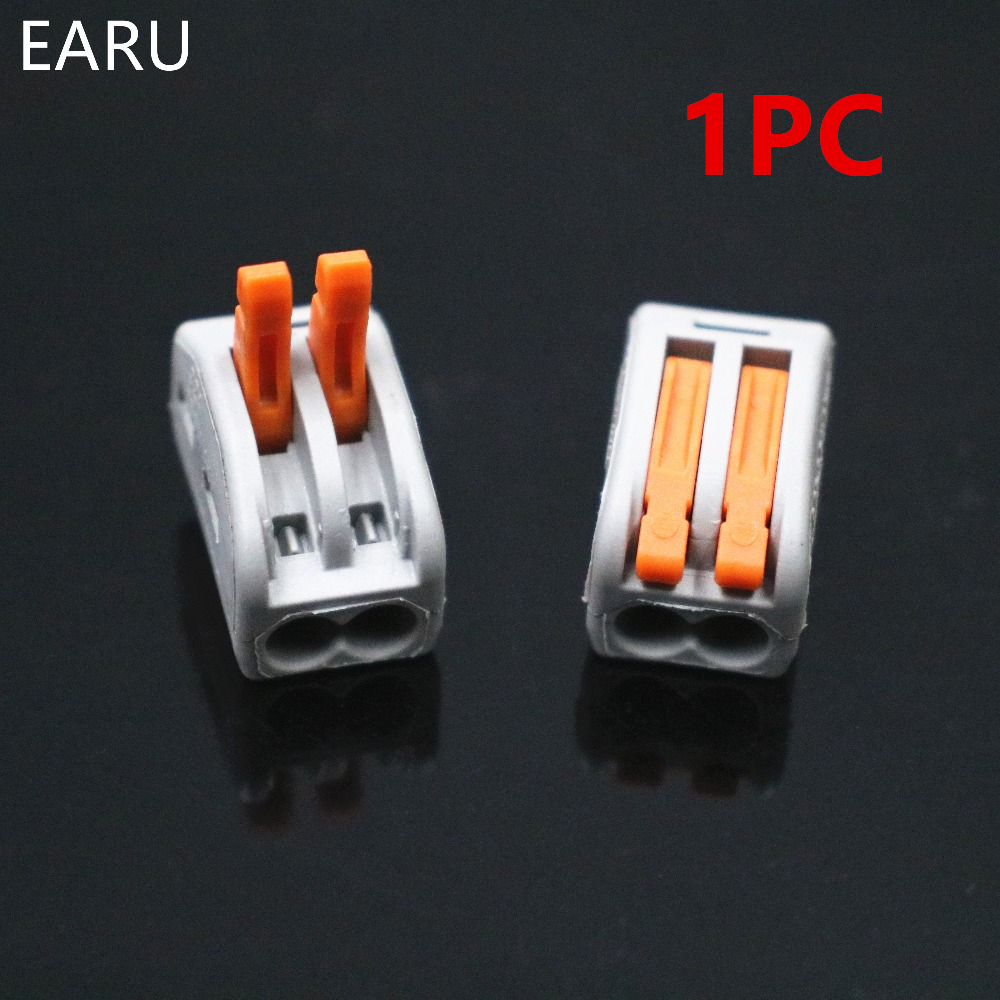 1PC 222-412 PCT-212 PCT212 Quick Universal Compact Wire Wiring Connector 2 Pin Conductor Terminal Block Lever 0.08-2.5mm2