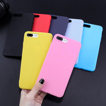 Rubber Silicone Case For iPhone 7 8 Plus Cases TPU Cover For iPhone Xs max Xr X 5 SE 5S 6 6S Matte Ultrathin Luxury Candy Color цена и фото