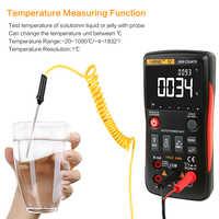 ANENG Q1 9999 liczy True RMS cyfrowy multimetr AC DC napięcie prądu odporność pojemności urządzenie do pomiaru temperatury Auto/Manual