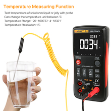 цена на ANENG Q1 9999 Counts True RMS Digital Multimeter AC DC Voltage Current Resistance Capacitance Temperature Tester Auto/Manual