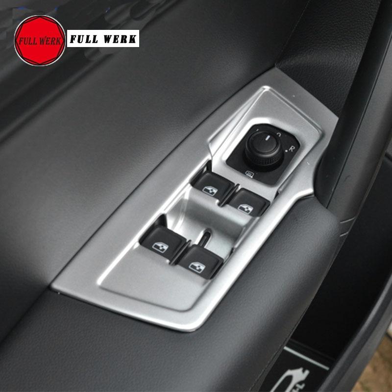 Комплект из 4 шт. стайлинга автомобилей окно переключатель Панель отделки рамка для VW TIGUAN L 2017 2018 двери, окна кнопка включения стикеры аксесс...