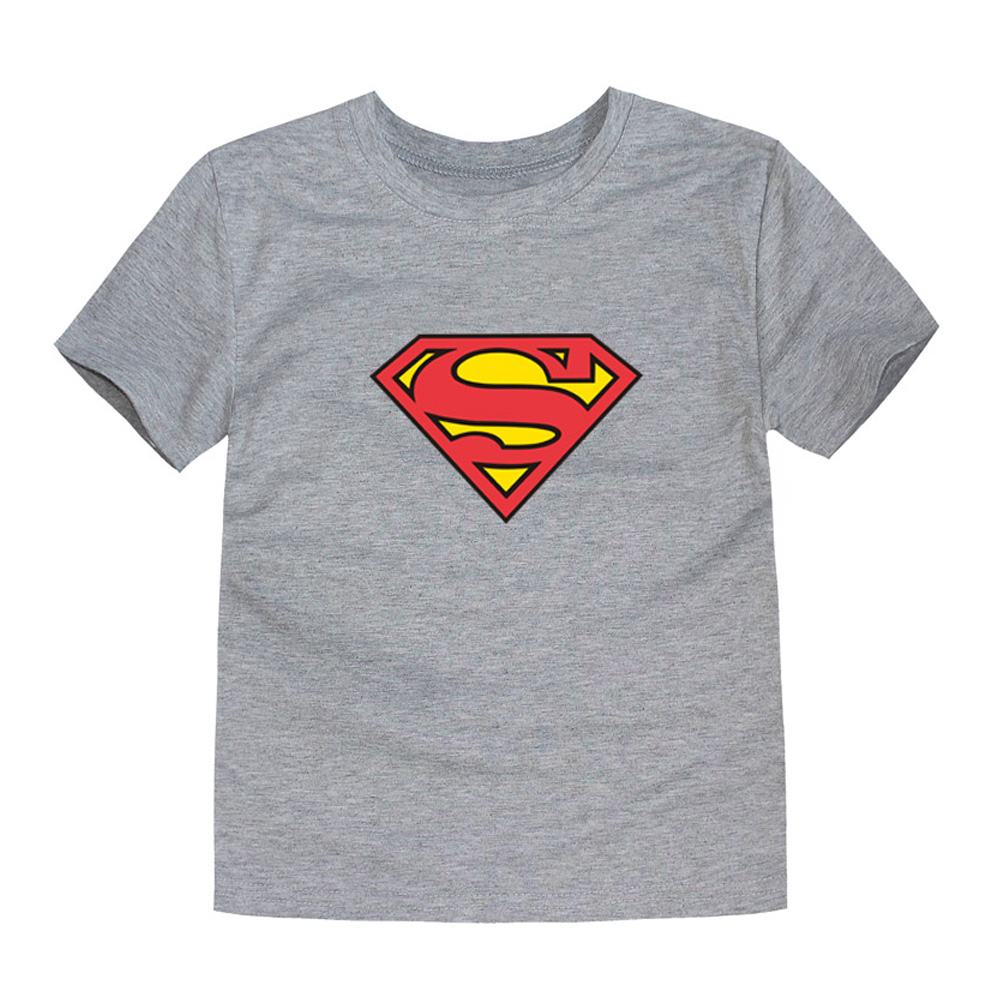 HTB1Ml5zQVXXXXceXpXXq6xXFXXXe - TINOLULING 2018 Kids Superman T-Shirt Boys Girls Batman T Shirt Children Tops Baby Tees For 2-14 Years