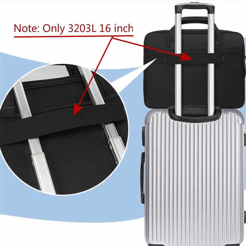 """Мужские сумки, деловой портфель, большая емкость, мужская сумка на одно плечо, 14 """"15"""" 16 """", сумка для ноутбука hp Dell lenovo Asus MacBook"""